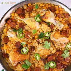 Michael Symon's Chicken and Chorizo #Paella #TheChew