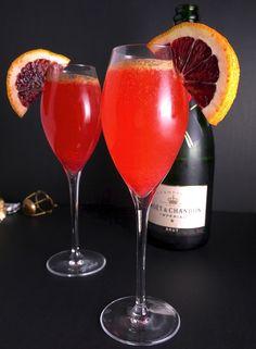 Delicious Blood Orange Bellinis!