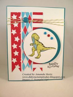 Bright Boy Birthday by mandypandy - Cards and Paper Crafts at Splitcoaststampers