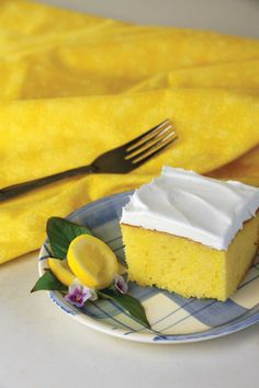 Delightful directions come with this Lemon Poke Cake Recipe from Barbara Hill, Sanger, California.