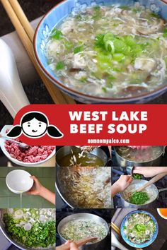 This West Lake Beef Soup is a simple and delicious Whole30-friendly soup that'll fill you up on any weeknight! With bright green flecks of cilantro and cloudlike wisps of egg, this soup is both gorgeous and satisfying. Plus, Mindy Kaling loves it! #paleo #nomnompaleo #gluten-free #primal #whole30