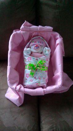 Bundled Baby Diaper Cake