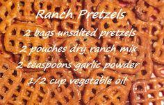 Superbowl Party - ranch pretzels
