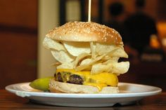 #8 Crunchburger from Bobby Flay's Burger Palace — 10 Best Chain Burgers in America