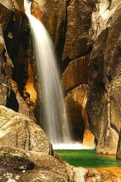 Waterfall Arado, Geres #Portugal - by Americo Rui Pacheco