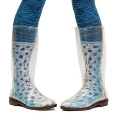 peek•a•boots (clear rain boots let you show off hand-knit socks, designer tights, etc.)