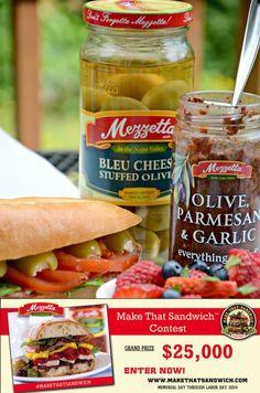 Combine a mini baguette, goat cheese, olive oil, dry salami, basil ...