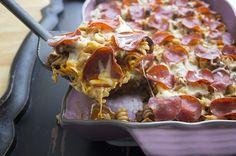 pizza casserole, pasta dishes, food, healthy pizza, pizza recipes, pasta pizza