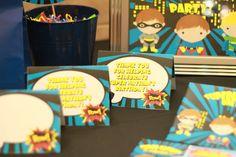 PRINTABLE Superhero Thank you Cards Superhero by PrintThatParty