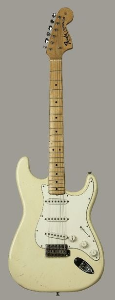 """Jimi Hendrix' """"Woodstock"""" ('68 Fender Stratocaster). Paul Allen bought this at auction for 1.3 million."""