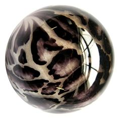 """Clouded Leopard Marble - This is a handmade """"animal skin"""" marble by artist, Mark Matthews."""