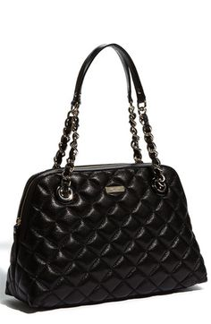 kate spade new york 'gold coast - georgina' quilted metallic shopper available at #Nordstrom