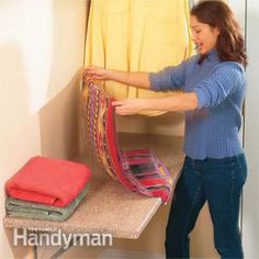 This 2 x 5-ft. table is a handy option for any laundry room. Sorting and folding your clothes just got easier!