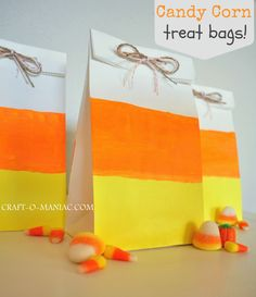 Craft-O-Maniac: Candy Corn Treat Bags!