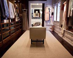 Carrie Bradshaw and Mr. Big's closet