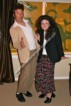 seinfeld coupl, halloween costumes, costum creation, funni, coupl costum, couple costumes, costum idea, funny couples costumes, elain