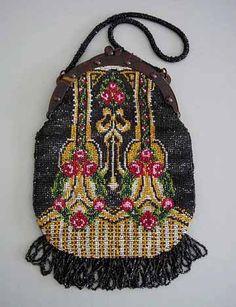 beaded purse--beautiful.