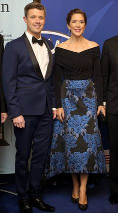 Crown Princess Mary and Crown Prince Frederik of Denmark attends the American Chamber of Commerce (AmCham) Denmark's gala dinner in celebration of its 15th anniversary on 29.10.2014 in Copenhagen
