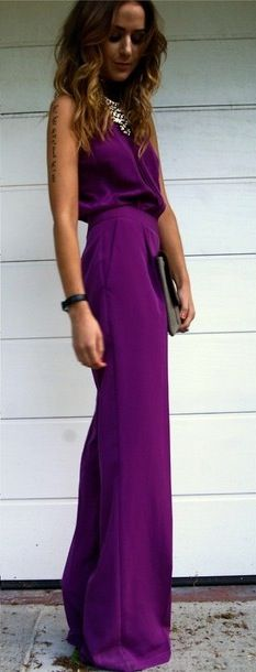 #purple #long #dress #evening