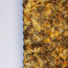 How to Make Sausage-Hash Brown Breakfast Casserole Video | MyRecipes.com