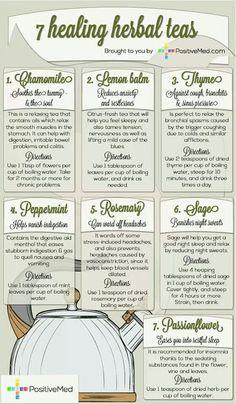 7 Healing Herbal Teas [infographic]