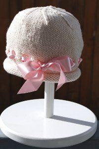 Ribbon Baby Bonnet | AllFreeKnitting.com