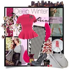 """""""Deep Winter Print"""" by spicemarket on Polyvore"""