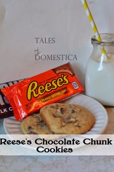 Tales of Domestica: Reese's Peanut Butter Cup Chocolate Chunk Cookies