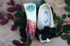 recycled Starbucks coffee bag to shoes