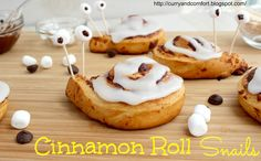 Curry and Comfort: Cinnamon Roll Snails @CurryandComfort