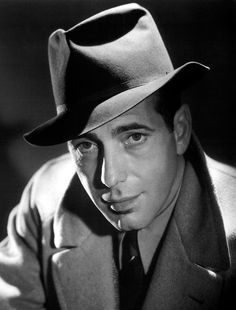 "Humphrey Bogart  Best known for ""The Maltese Falcon"" and ""Casablanca"", Bogart was a mega-star in the golden age of Hollywood. The photographer who took this shot, George Hurrell, was responsible for many of the ""glamour shots"" in Hollywood in the 1930′s and 1940′s"