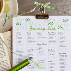 cute! free printable grocery list