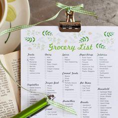 cute! free printable grocery list