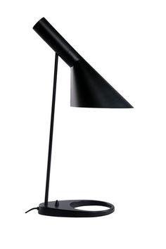 The AJ Black Table Lamp