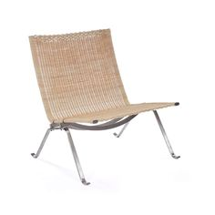 Mid-Century Modern Reproduction PK22 - Natural Rattan Inspired by Poul Kjaerholm — France & Son