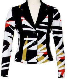 Joseph Ribkoff. Retro print jacket   Matching dress also available.