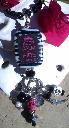 Harley Motorcycle Necklace, Harley Jewelry,  Harley Davidson, $26.99  etsy.com/shop/secretstashboutique