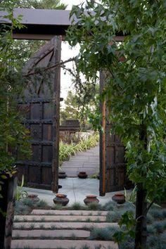 Gothic doors used as garden gates...