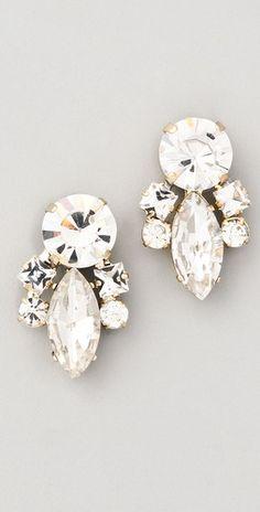 Noir Jewelry Crystal Cluster Earrings