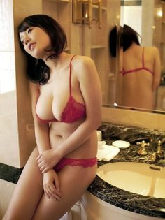 Red Lace Lingerie On Asian Female