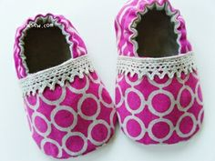 Sewing pattern for baby shoes