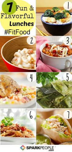 7 fun #lunch ideas in minutes! | via @SparkPeople #fitfood