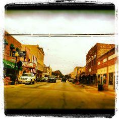 Belton, Texas on a rainy day.