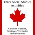 A fun and informative set of three social studies activities for students studying Canada's geography and people
