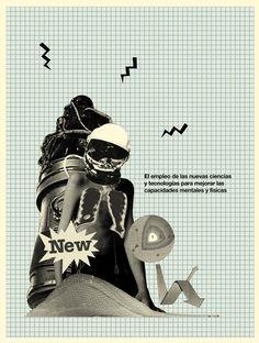 POSTHUMANO (fanzine) by Ismael Fino, via Behance