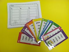 Word Work Ideas....and I like this idea for putting several words on 1 card to put in ABC order