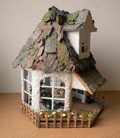 Fairy summer cottage - ideas, ideas, ideas- great idea starting with birdhouse gazebo from Joann's