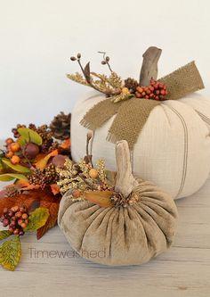 Fabric Pumpkins-Fall Décor -embellishment ideas
