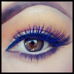 #makeup I want to try blue mascara ......