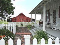love the picket fences